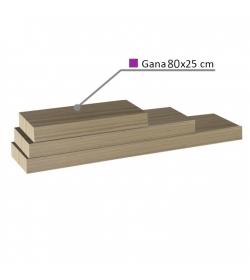 Polica GANA, dub pieskový, 80x25