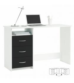PC stôl, biela/čierna, LARISTOTE 304375
