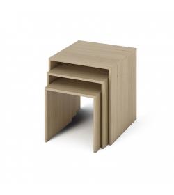 Príručný stolík, DTD laminovaná/ABS hrany, dub sonoma, SIPANI