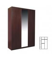 Skriňa so zrkadlom, sosna lareto, PELLO TYP 22