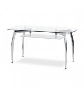 Jedálenský stôl, chróm/sklo, RAMZES - NEW