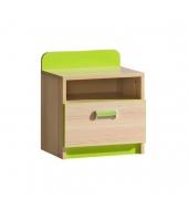 Nočný stolík, jaseň/zelený, EGO L12