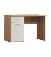 PC stôl, dub/biela, WINIE WNB935