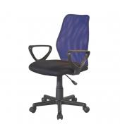 Kancelárska stolička, modrá/čierna, BST 2010