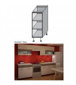 Kuchynská skrinka policová, wenge, JURA NEW IA DO-20