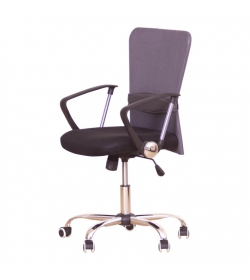 Kancelárske kreslo, sivá/čierna, AEX
