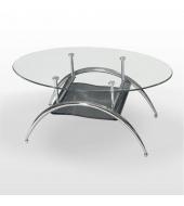 Konferenčný stolík, chróm/sklo, ANDRE - JONAS