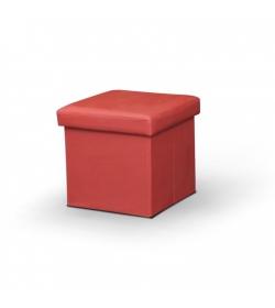 Taburet, ekokoža červená, TELA