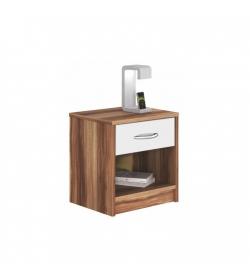 Nočný stolík, slivka/biela, BISI 4621