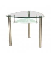 Jedálenský stôl, oceľ/sklo, KAROL