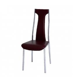 Stolička, ekokoža bordová/chróm, RIA - IRIS