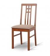 Stolička, tmavý dub/látka krémová, SILAS