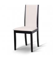 Stolička, wenge/ekokoža biela, VENIS