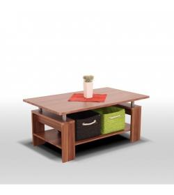 Konferenčný stolík, svetlý orech/kov trieborná, ROKO