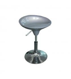 Stolička,sivý plast/chróm, KARMIN