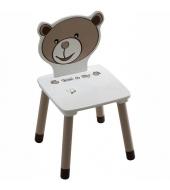 Detská stolička, čokoládová/biela, PUFF