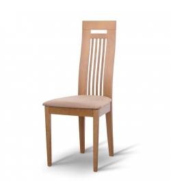 Drevená stolička, dub/látka hnedá, EDINA