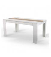 Jedálenský stôl, biela/dub sonoma, 140x80 cm, RADIM