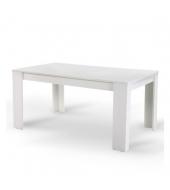 Jedálenský stôl, biely, 160x90 cm, TOMY