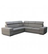 Rohová rozkladacia sedacia súprava s úložným priestorom, pravé prevedenie, cappucino, MONAKO