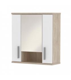 Závesná skrinka, dub sonoma/biela pololesk, LESSY LI01