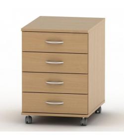 Kontajner 4 zásuvkový + zámok, buk, TEMPO ASISTENT NEW 015