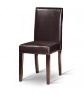 Jedálenská stolička, tmavý orech/ekokoža tmavo hnedá, VIVA NEW