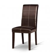 Jedálenská stolička, tmavý orech/ekokoža tmavohnedá, RORY NEW