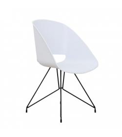 Stolička jedálenská, biela, FRAME