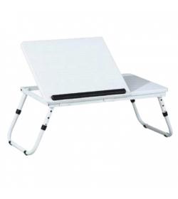 Stolík na notebook, biela, EVALD