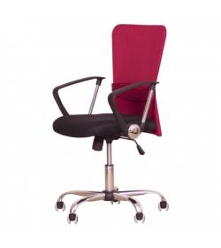 Kancelárske kreslo, červená/čierna, AEX