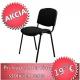 Kancelárska stolička, čierna, ISO NEW