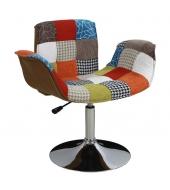 Kreslo, chróm/patchwork, ROXY