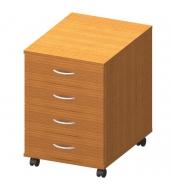 Kontajner 4 zásuvkový + zámok, čerešňa, TEMPO ASISTENT NEW 015