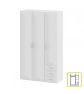 Skriňa, 3 - dverová, biela, GWEN 70427