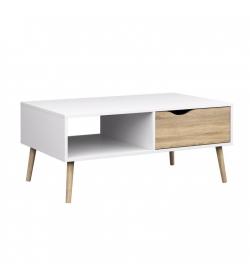 Konferenčný stolík, dub sonoma / biela, OSLO 75384