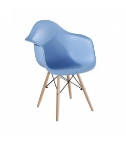 Kreslo, modrá/buk, DAMEN