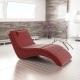 Relaxačné kreslo, ekokoža červená, LONG