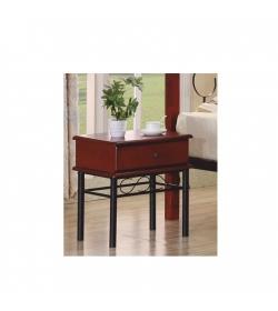 Nočný stolík, kov + tmavý dub, CELESTA