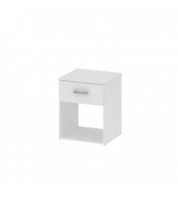 Nočný stolík, biela, GARBO
