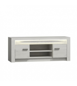 TV stolík/skrinka, jaseň biela, INFINITY 09