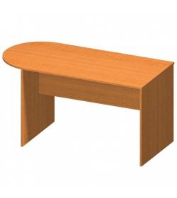 Kancelársky stôl s oblúkom, čerešňa, TEMPO ASISTENT NEW 022