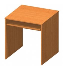 Stôl písací s výsuvom, čerešňa, TEMPO ASISTENT NEW 023