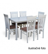 Stôl 135, biela, ASTRO