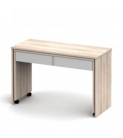 PC stôl rozkladací, dub sonoma/biela, VERSAL NEW