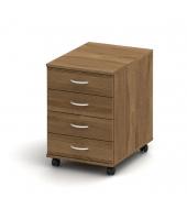 Kontajner 4 zásuvkový + zámok, bardolino tmavé, TEMPO ASISTENT NEW 015