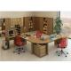 Kancelársky stôl s oblúkom, bardolino tmavé, TEMPO ASISTENT NEW 022