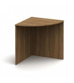 Stôl rohový oblúkový, bardolino tmavé, TEMPO ASISTENT NEW 024