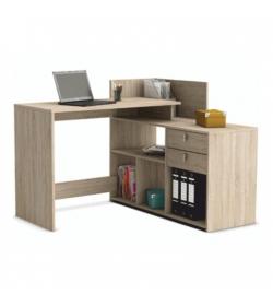 Rohový PC stôl, dub sonoma, VISTA PC STOL