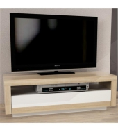 TV stolík/skrinka, dub sonoma/biela, AGNES